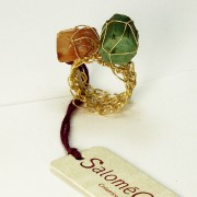 Salomé Osorio | Rings Esmerald and Garnet Ring