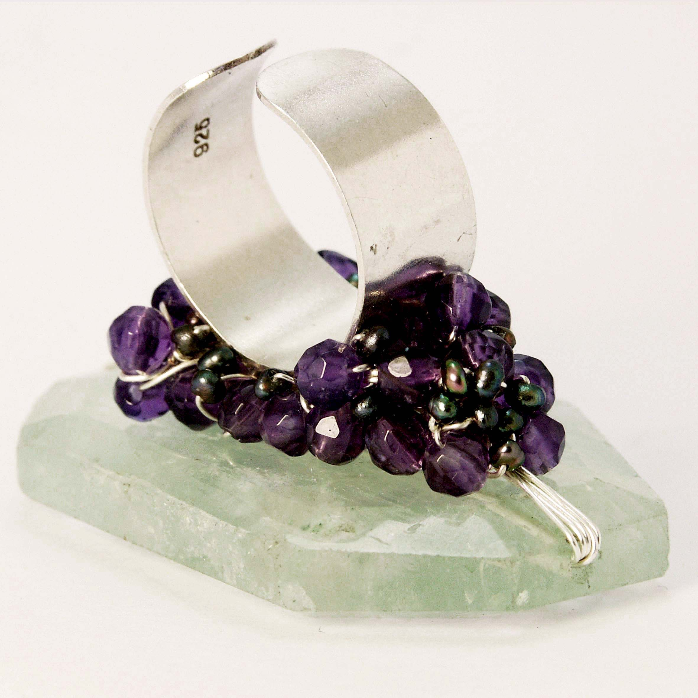 fluorite oval small purple green size grams img rings sterling rainbow silver ring