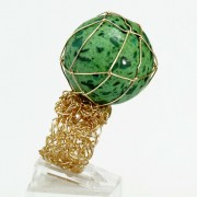 Salomé Osorio | Collections - Crochet Malachite Ring