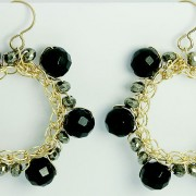 Salomé Osorio | Collections - Crochet Onyx Earrings
