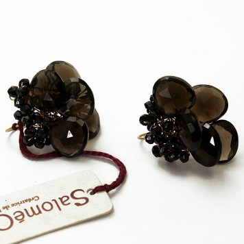 Salomé Osorio | Earrings Smoked Quartz Earrings