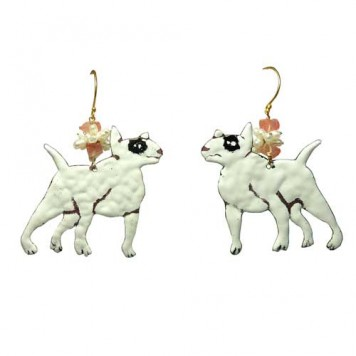 Salomé Osorio | Earrings Bull Terrier, Earrings Enamalled