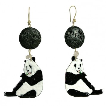 Salomé Osorio | Earrings Panda Earrings